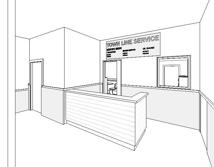 townline autorepair interior 3D model