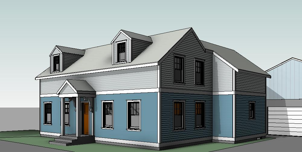 Revit rendering of proposed home